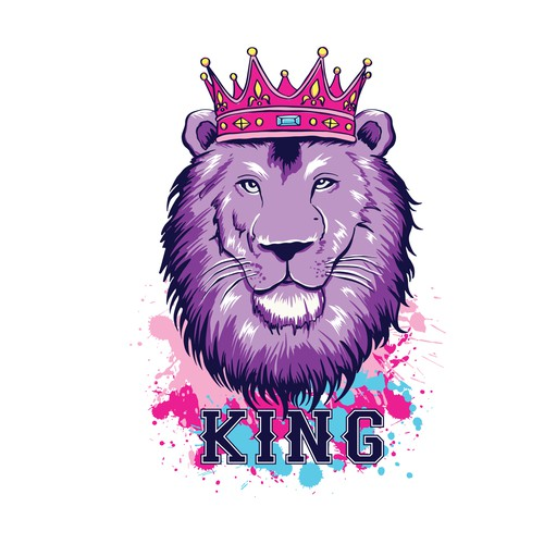 "Urban feel t-shirt design with the word ""KING"""