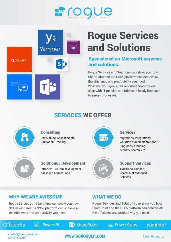 Rogue Services and Solutions - One Pager