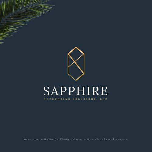 Mature, Feminime logo for Sapphire Accounting Solutions