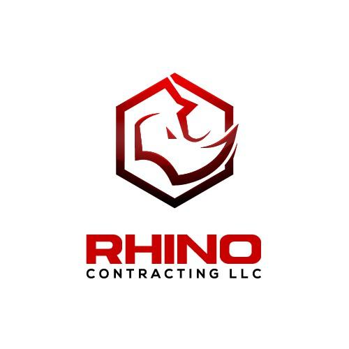 Bold Rhino Logo for Construction Company