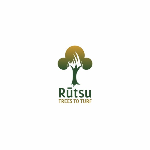 Simple logo for a Tree and Turf service company