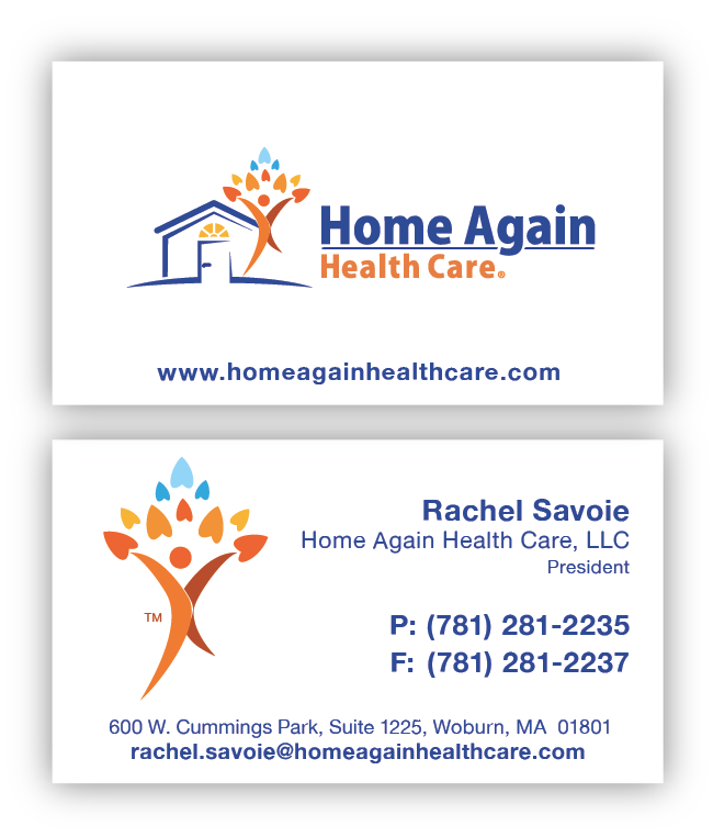 Home Again Health Care, LLC Needs New Business Cards