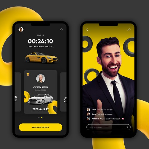App Design for Car Give-away