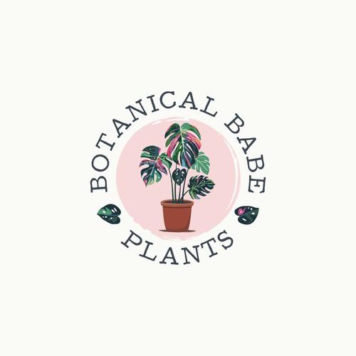 Illustrative, Bright, Lively New Logo for Botanical Babe Plants