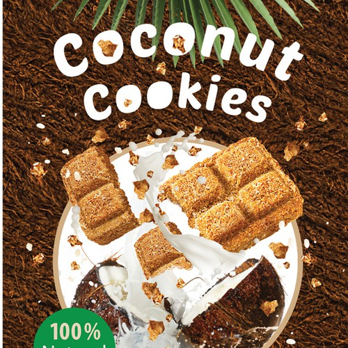 Package for the healthy coconut bar snacks