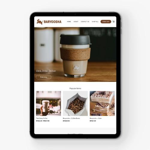 Baryoosha — Coffee Shop — Website