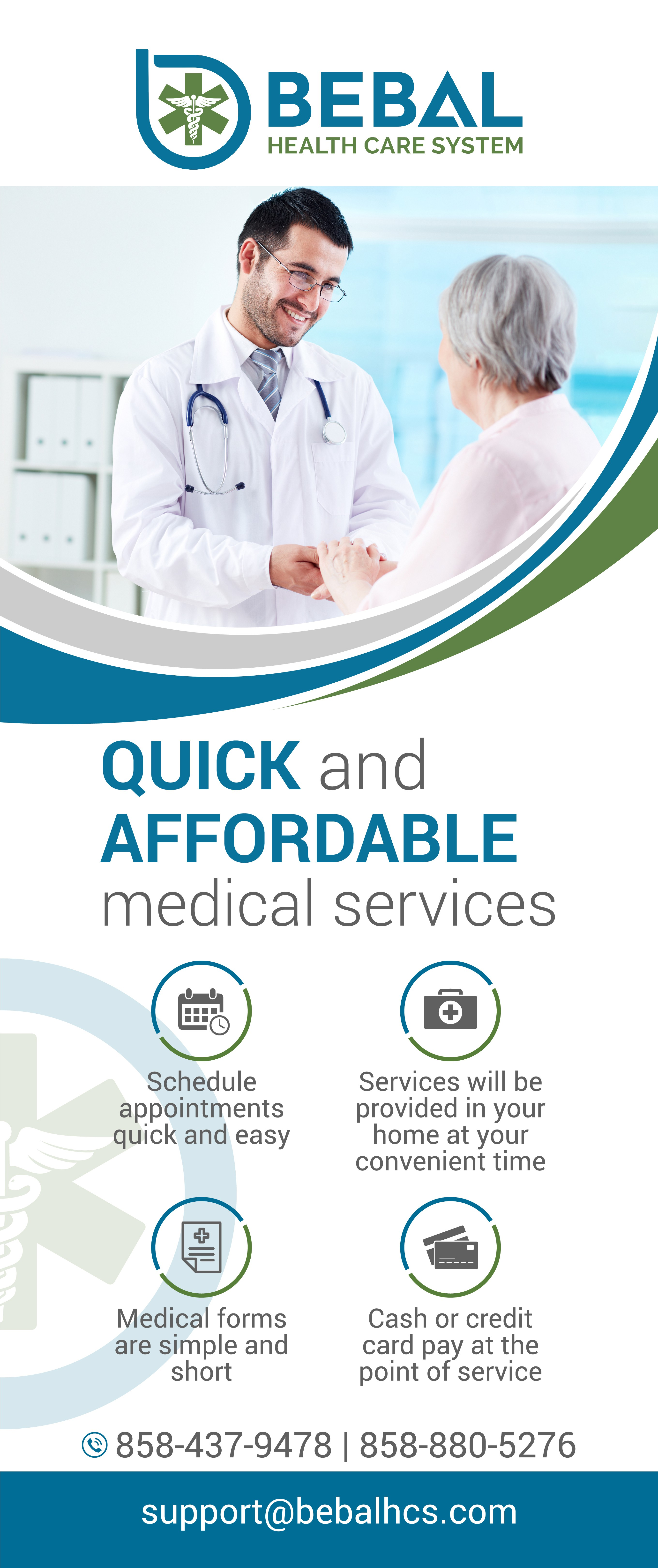 Health Care System needs a retractable trade show banner