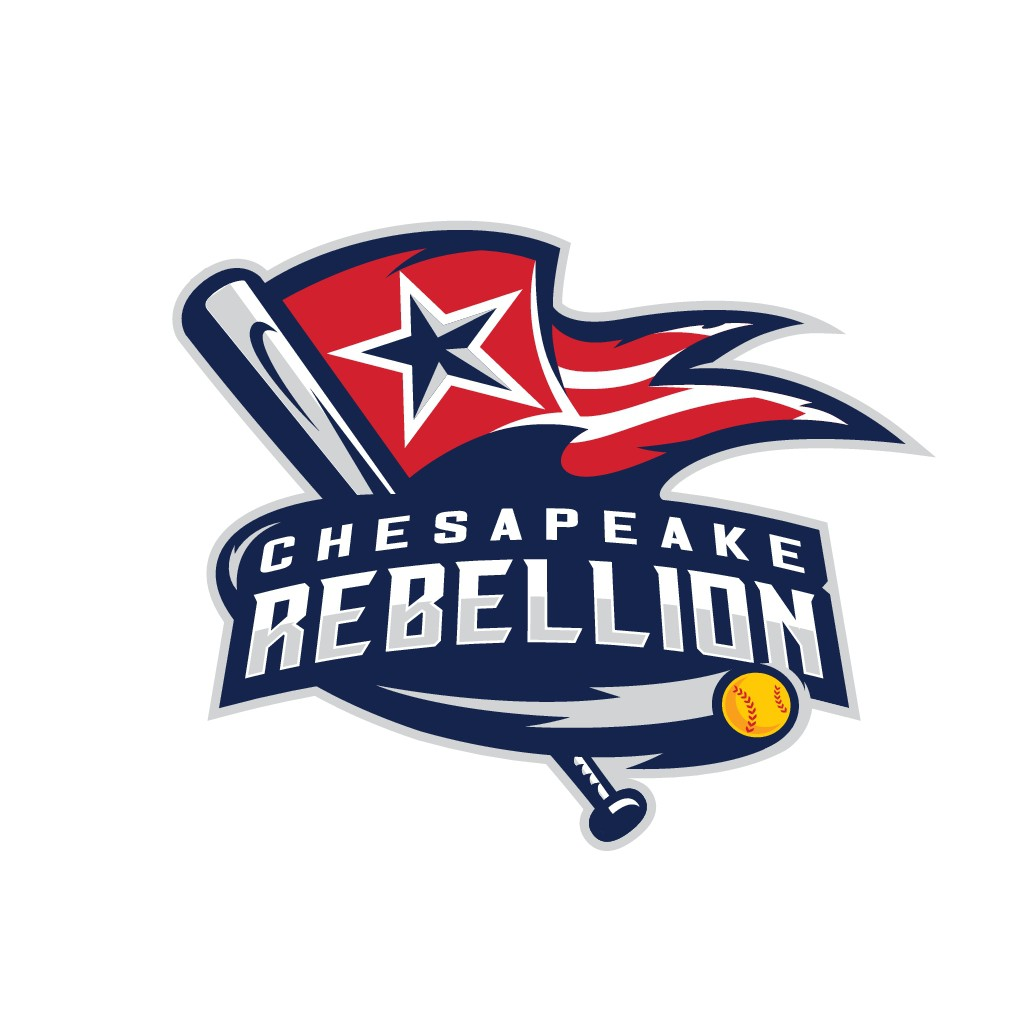 Design a strong but feminine logo for Chesapeake Rebellion Girls softball team.