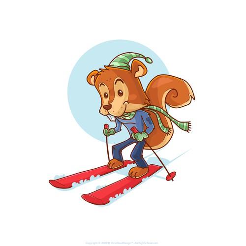 Squieerl mascot design