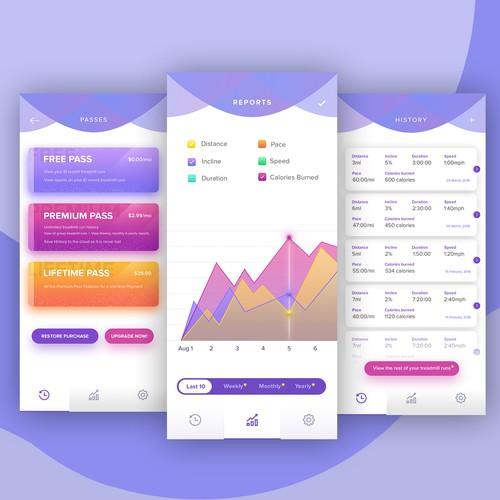Treadmill Tracker app