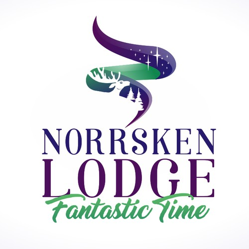 CAMP in the heart of Lapland under the northern lights - logo design