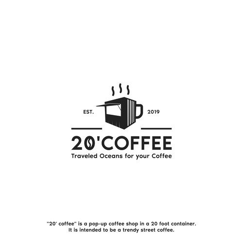 "20' coffee"" is a pop-up coffee shop in a 20 foot container"