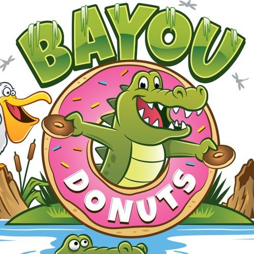 Cartoon logo concept for Donut shop