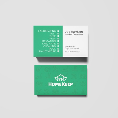 Minimal and Informative Business Card Design