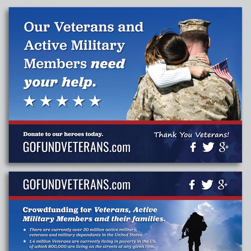 Captivating design for veterans' startup