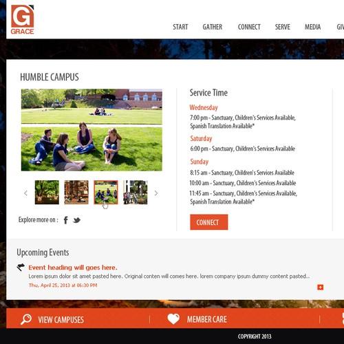 Grace Church needs a new website design FAST!