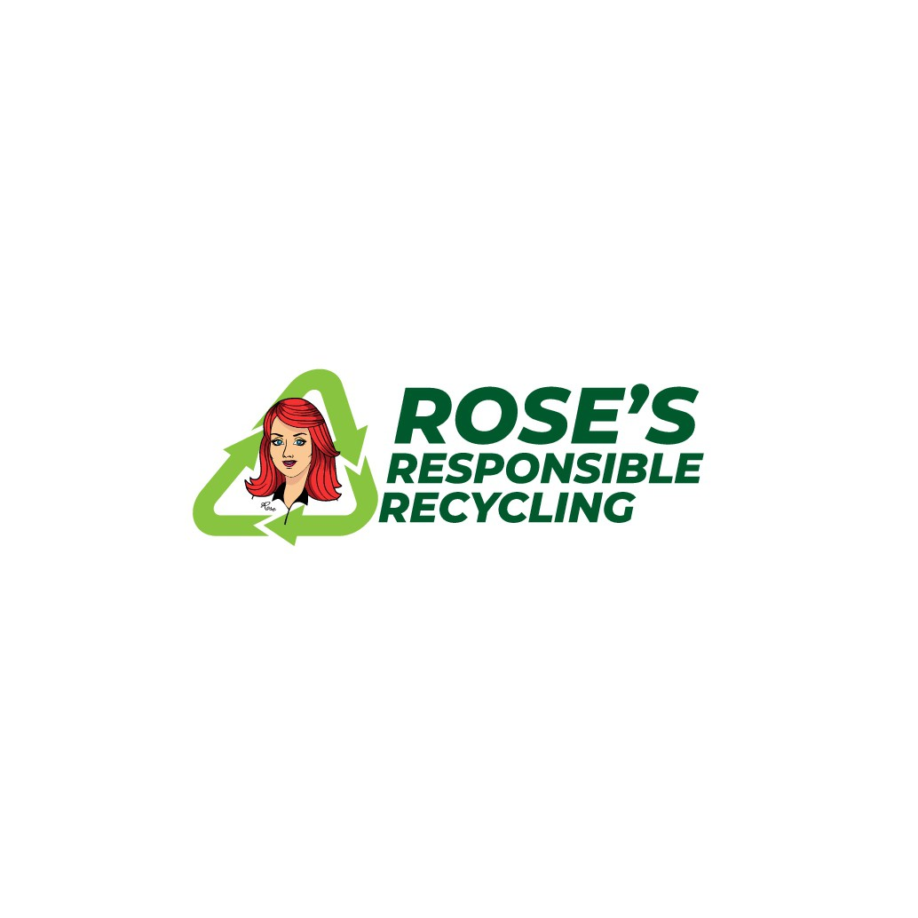 """Looking for family friendly, eye catching recycle center logo with text and a cartoon woman who is """"Rose"""" (head/shoulder"""