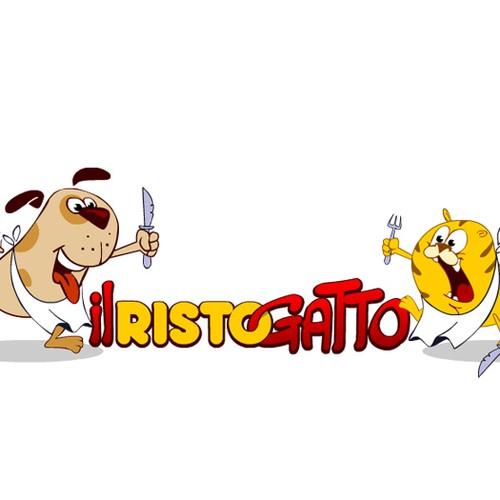 Create the next logo for IL RISTOGATTO