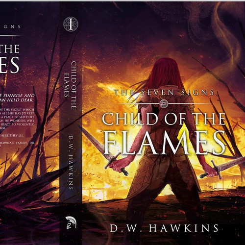 "entry for book cover contest ""CHILD OF THE FLAMES"""