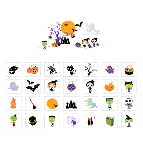 Halloween illustrations for Funsational