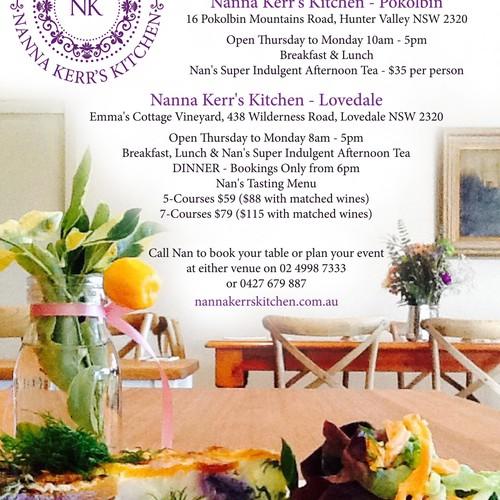 Nanna Kerr's Kitchen Full page advert