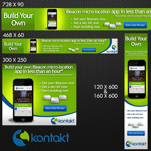 Create a great set of remarketing ads for Kontakt.io