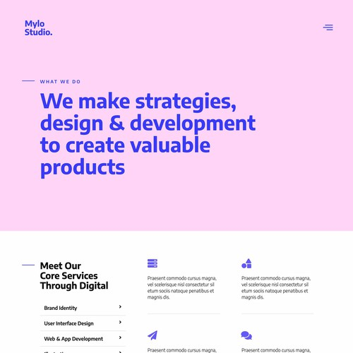 Creative Agency & Portfolio Web Interface Design