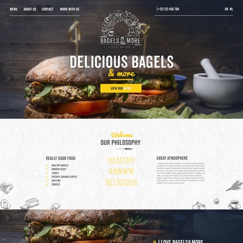 Webdesign for Bagels&More