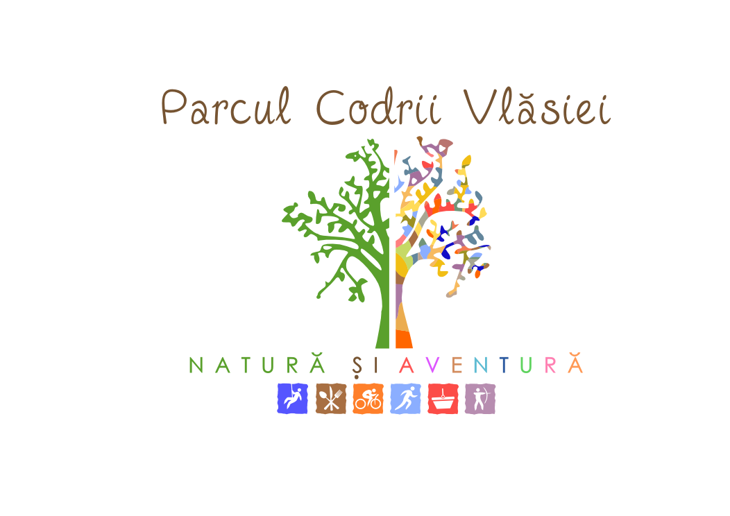 Create the next logo for Parcul Codrii Vlăsiei (it means Codrii Vlasiei Park - describes an outdoor park outside of Bucharest, R