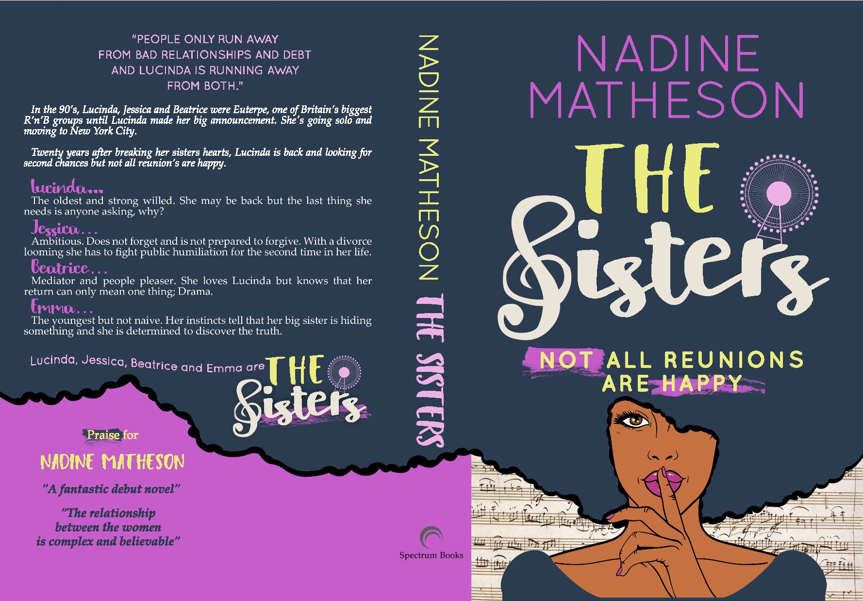 redesign/updating the cover for my contemporary fiction book 'The Sisters'
