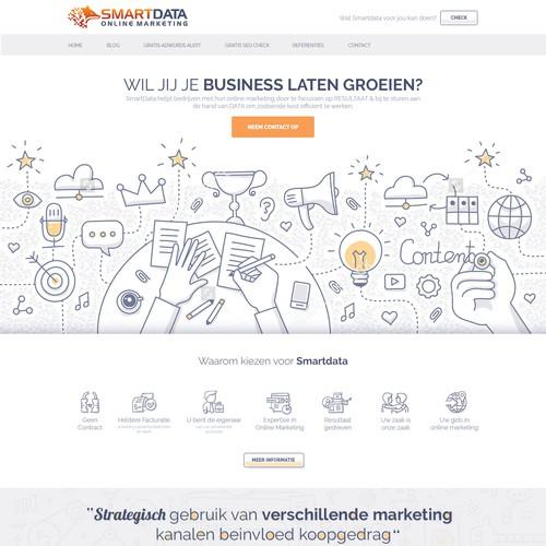 Website Design for Online Marketing Agency
