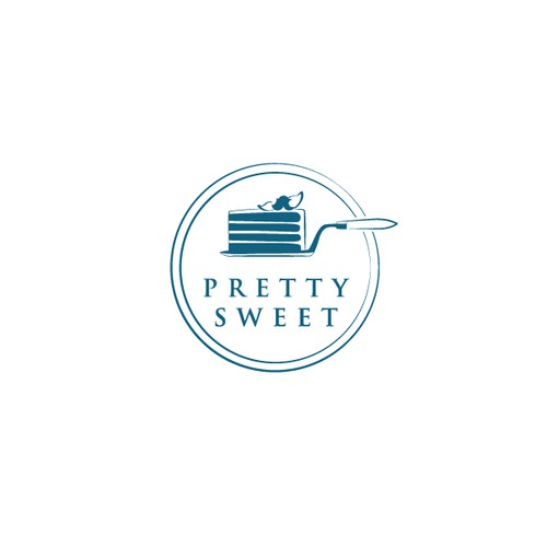 "Design a ""Pretty Sweet"" logo for a custom cake and dessert business!"