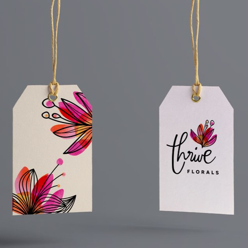 logo design proposal for thrive florals