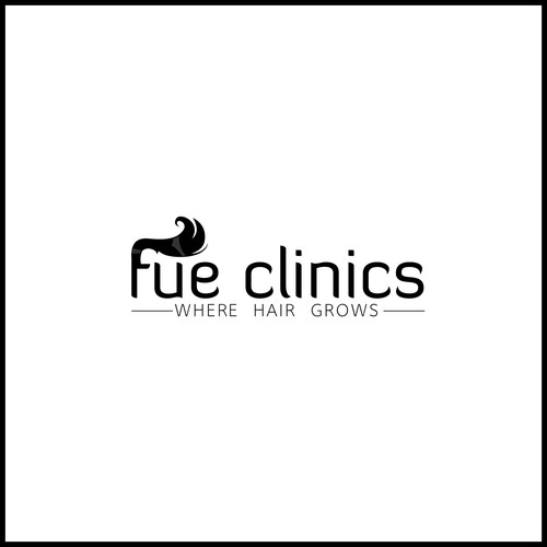 logo FUE clinics Fresh, Modern and Unique
