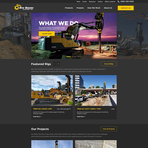 Webdesign for Bay Shore Systems