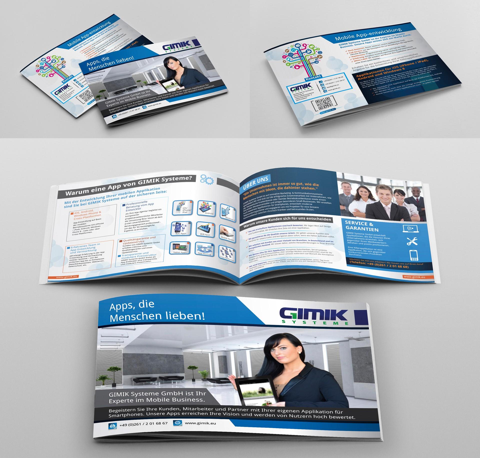 brochure design für GIMIK Systeme GmbH