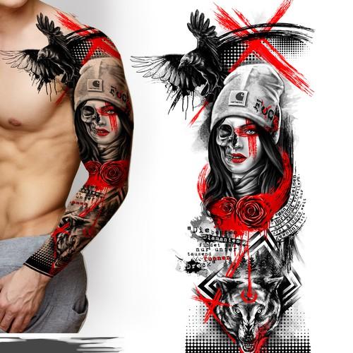 Design Trash Polka Tattoo