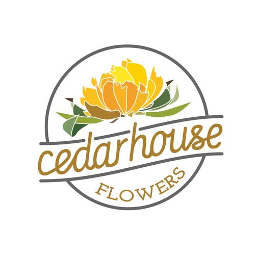 Strong & Feminine Logo for a trendy flower shop