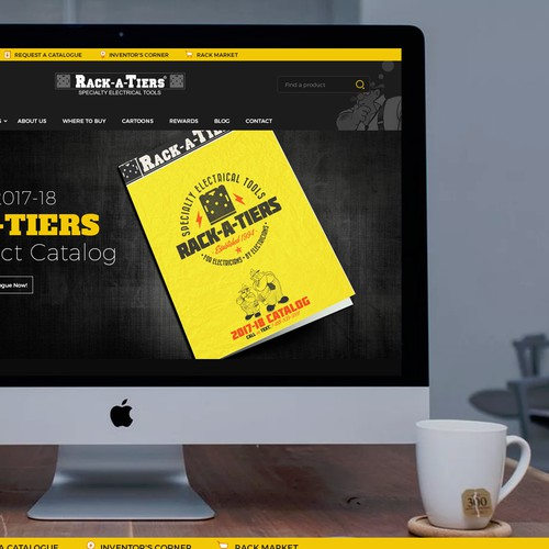 Dark e-commerce theme for electrical parts.