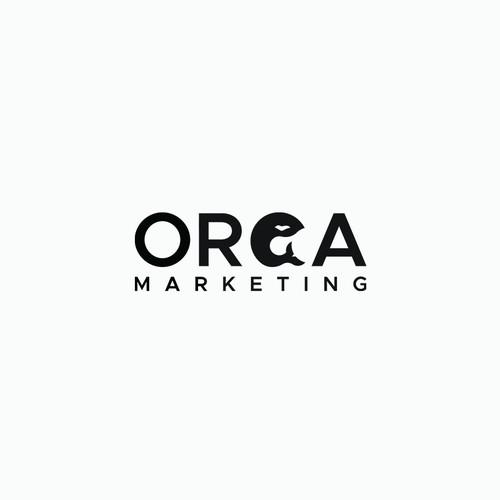 Orca marketing logo concept