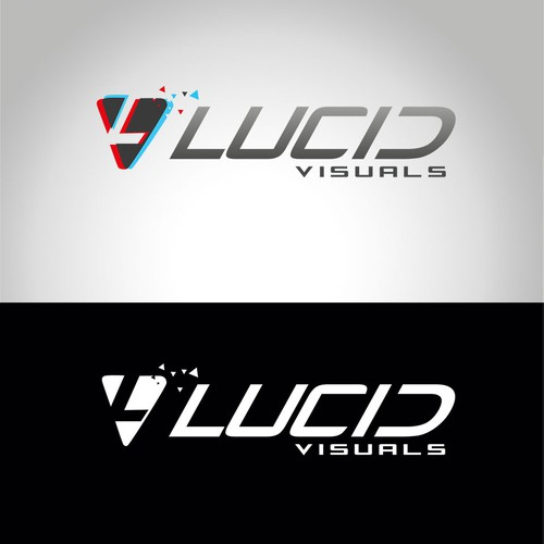 Logo developed for virtual tours 3D service. Lucid Visuals.