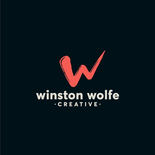 The client required a logo for a creative agengy inspired by the pulp fiction character Winston Wolfe
