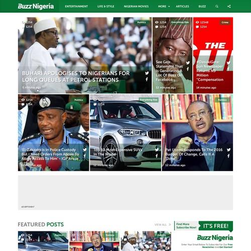 Web Design for News Portal