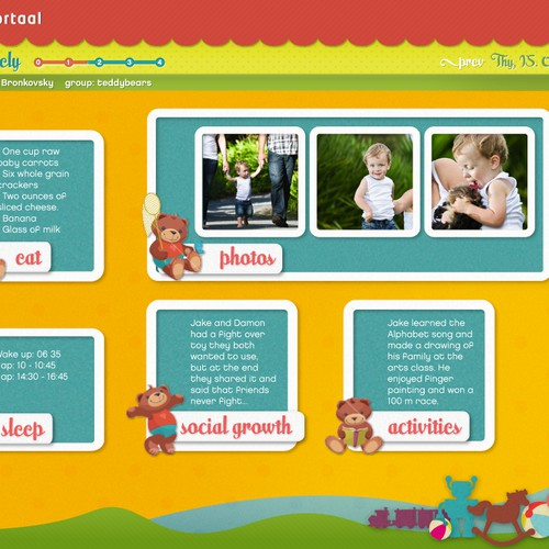 Cute application for childcare