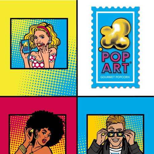 Pop Art Characters for food brand