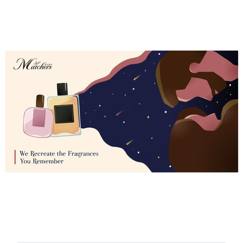 Illustration for perfume brand