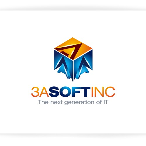 Help 3A SOFT INC with a new logo and business card