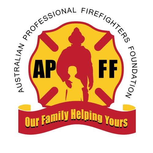 Logo and website design for a firefighters foundation who helps child burns and road trauma survivors