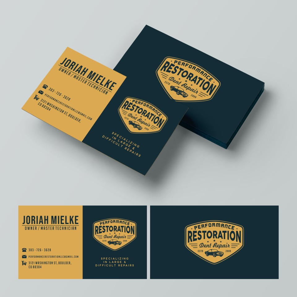 Business card with the logo that you made