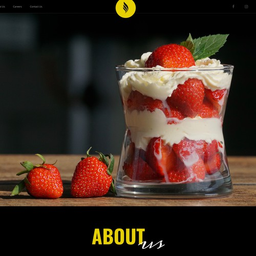 Landing Page for food deliever